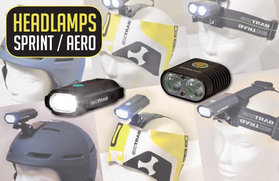 Lampade frontali Sprint & Aero
